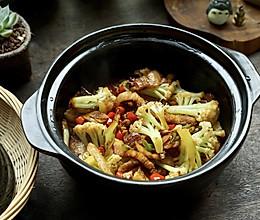 干锅菜花,花菜最好吃的做法!的做法