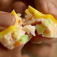 三文鱼杂蔬蒸糕的做法图解17