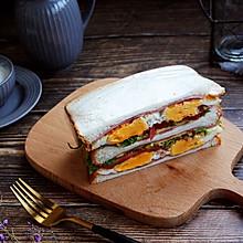 #秋天怎么吃#鸡蛋火腿蔬菜三明治