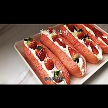 """#美食说出""""新年好""""#完美复刻奈雪同款草莓魔法棒"""