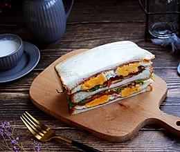 #秋天怎么吃#鸡蛋火腿蔬菜三明治的做法