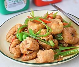 #一勺葱伴侣,成就招牌美味#青椒豆腐泡的做法