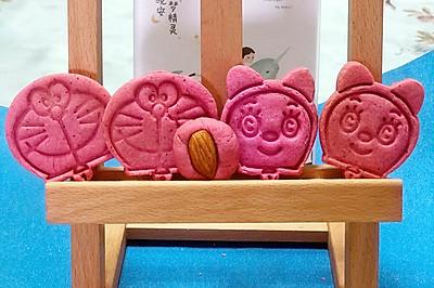 粉红少女心~卡通火龙果饼干