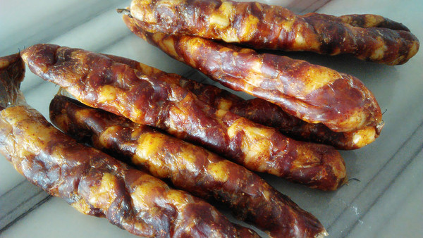 生酮美食——自制风干香肠、麻辣肠