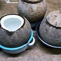 原只椰子鲍鱼花胶汤的做法图解2