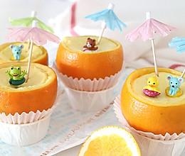 橙子里的炖蛋,帮助宝宝夏天补充满满营养的做法