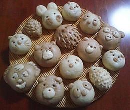 德芙巧克力小动物豆沙包的做法