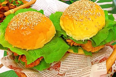 香辣鸡排汉堡