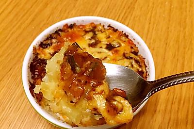 芝士焗土豆泥--豉椒汁