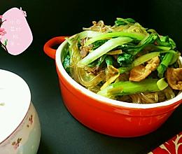 小白菜炒粉条的做法