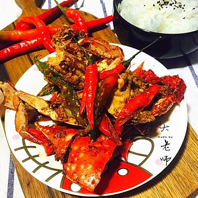吃蟹正当时-辣炒螃蟹