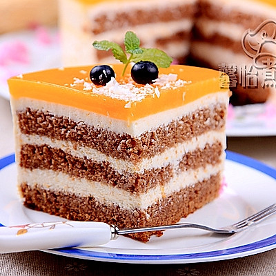 """杏子酱慕斯蛋糕--格兰仕""""百变金刚""""立式电烤箱试用菜谱"""