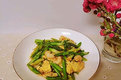 蛋白质Double的芦笋虾仁炒蛋