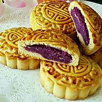 广式紫薯月饼#手作月饼#的做法图解12