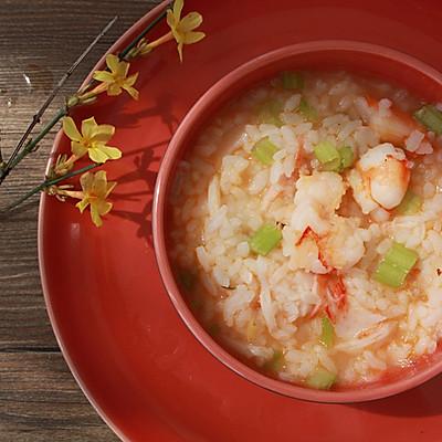 剩饭变身--香芹鲜虾汤饭
