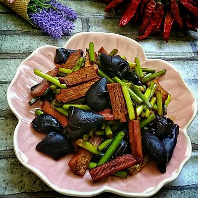 家常菜—快炒蒜苔香干