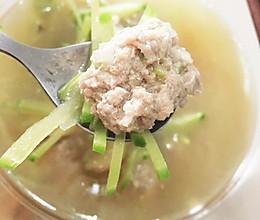 萝卜丝肉丸汤的做法