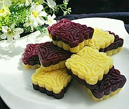 紫薯绿豆糕(免炒制)#发现粗食之美#的做法