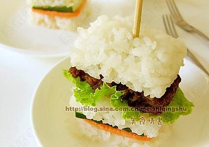简单美味  米饭三明治的做法