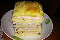 核桃拿破仑蛋糕:一道甜点学会酥皮,戚风和吉士酱做法(超详细)的做法
