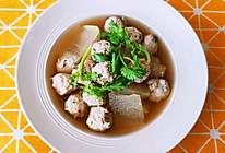 快手版冬瓜丸子汤,猪肉鲜嫩多汁,冬瓜低脂健康!新手零失败!的做法