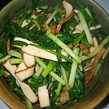 豆干炒韭菜