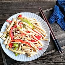 素炒白玉菇