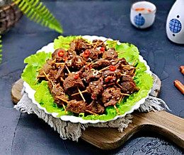 牙签牛肉#肉食者联盟#的做法