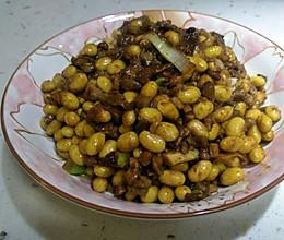 小米家常菜之 肉丁酱炒黄豆的做法