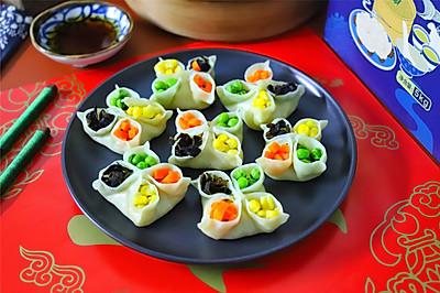 #钟于经典传统味#寓意吉祥,好吃好看的四喜饺子