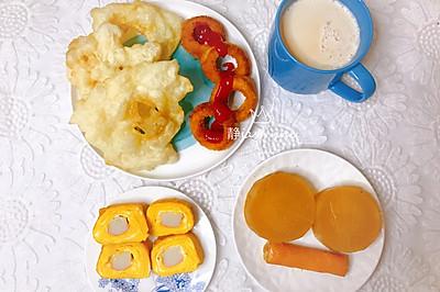 轩的早餐不重样~蟹棒厚烧蛋