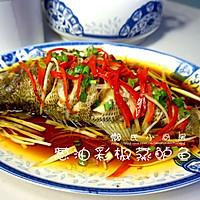 葱油彩椒蒸鲈鱼的做法图解8
