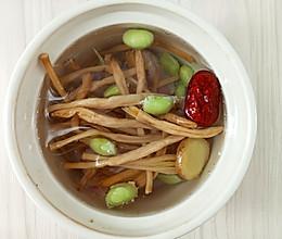 怀孕汤谱,喝了就开心的金针毛豆排骨汤 的做法