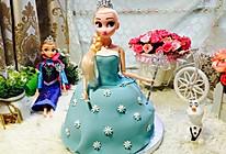冰雪奇缘艾莎翻糖蛋糕的做法