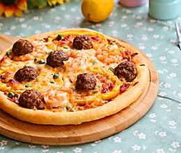 意式鲜虾肉丸披萨的做法