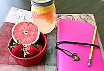 夏日清凉饮品--柠檬西柚气泡水的做法
