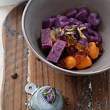 紫薯芋圆红豆汤