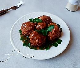 蒸炸蛋豉藕肉丸的做法
