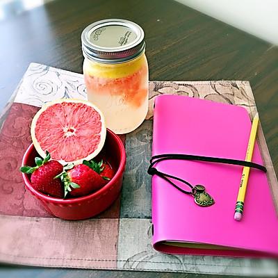 夏日清凉饮品--柠檬西柚气泡水