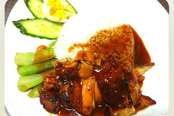 日式照烧鸡腿饭的做法