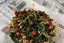 陈醋菠菜花生米的做法