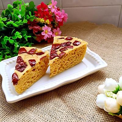 红枣玉米发糕(微波炉版)