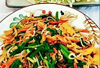 #助力高考营养餐#,绿豆芽胡萝卜韭菜炒鸡蛋的做法