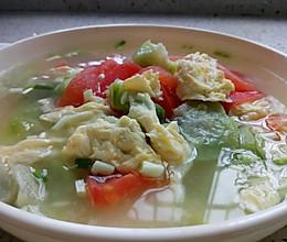 #花10分钟,做一道菜!#絲瓜西红柿蛋汤的做法
