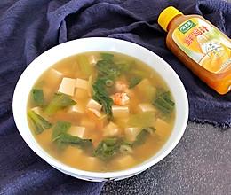 #太太乐鲜鸡汁玩转健康快手菜#虾仁豆腐汤的做法