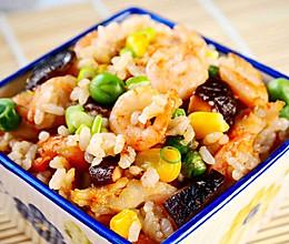 虾油炒饭的做法