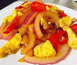 洋葱红椒炒鸡蛋的做法