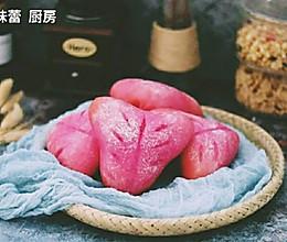 火龙果麻薯欧包的做法