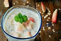 桃子燕麦奇亚籽奶昔的做法