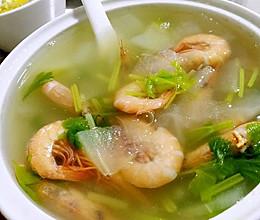 海虾毛冬瓜汤(无油)的做法